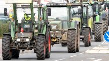 Demonstration landwirt traktor