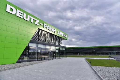Die Deutz-Fahr-Arena in Lauingen.